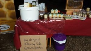 I sortimentet fanns allt från nyslungad honung till olika typer av sorthonung och honung i presentförpackning.